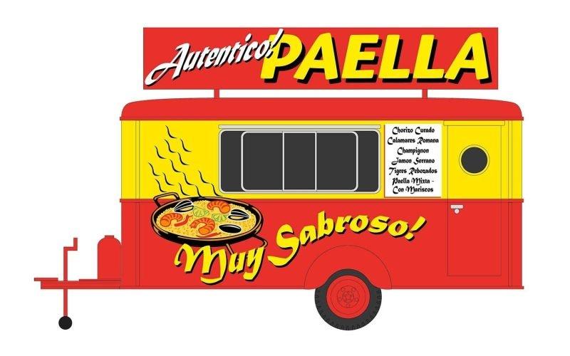 Anhängermodell Paella, Spur H0, 1:87