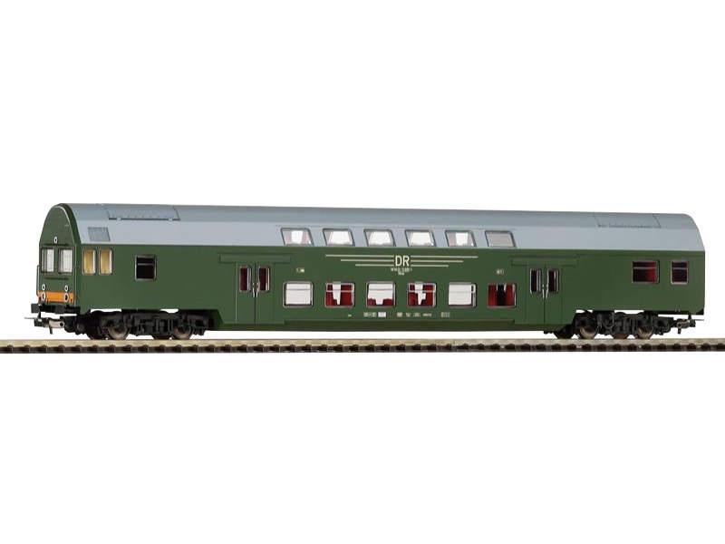 Doppelstock-Steuerwagen DBmqe der DR, grün, Epoche, IV, H0