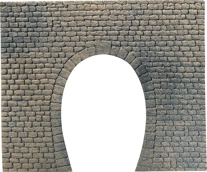 Dekorplatte Tunnelportal, Naturstein-Quader 170 x 140 x 9 H0