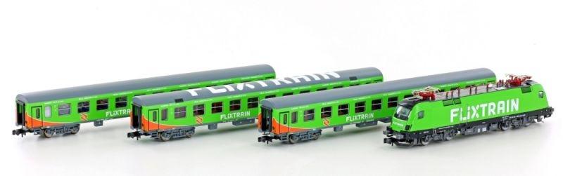 Zugset FLIXTRAIN mit BR182 Taurus/Bomz/2x Bom, Spur N