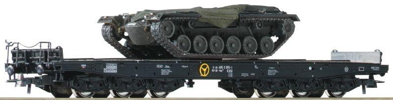 Set: 2-tlg. Schwerlastwagen mit M48 Panzern der DB, DC, H0