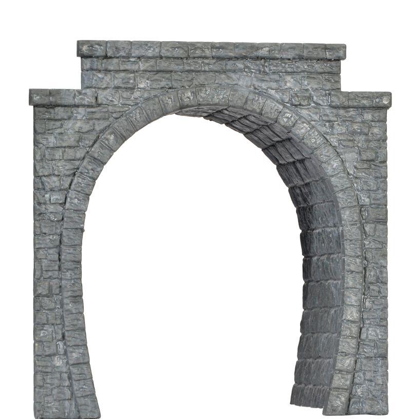 Tunnelportal eingleisig, mit Tunnelröhre, Spur H0