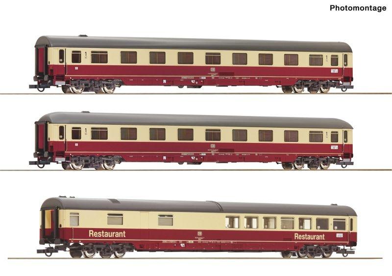 3er Set 2: Autoreisezug Christoforus-Express DB, DC, H0