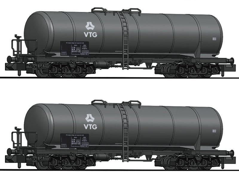 2-tlg.Set Kesselwagen der VTG, Spur N