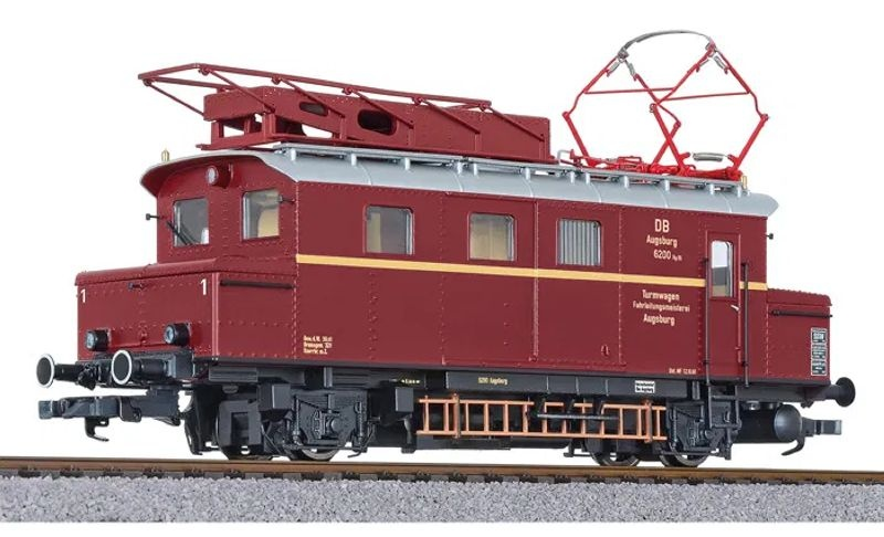 Turmtriebwagen, 6200 Augsburg, purpurrot, DB, Ep.III, H0