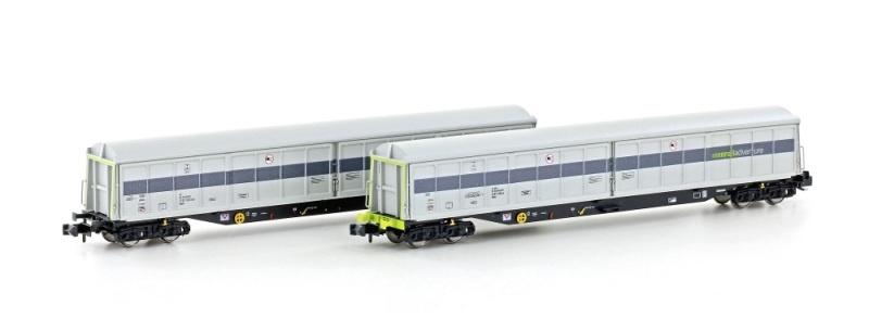 2er Set Schiebewandwagen Habfis Railadventure, Ep.VI, Spur N
