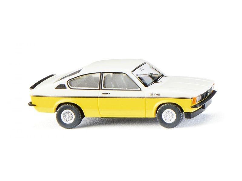 Opel Kadett C Coupé GT/E - weiß/gelb 1:87 / H0