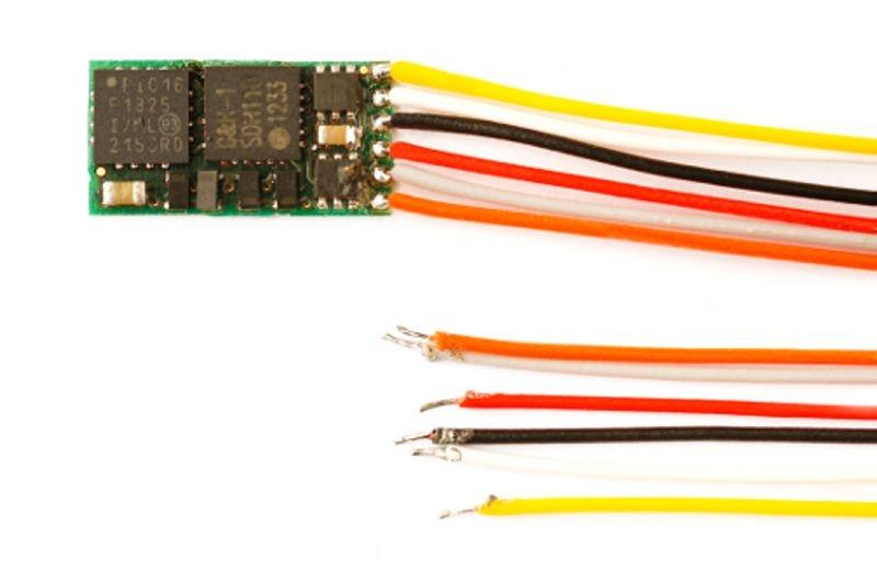 Mikro-Lokdecoder DH05C mit 6 Anschlusslitzen