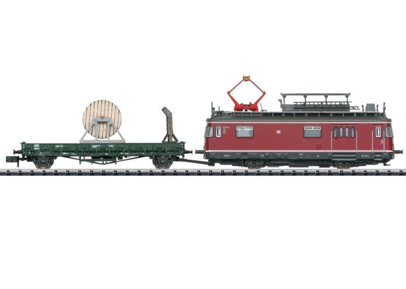 Turmtriebwagen mit Fahrleitungsbauwagen, DB, Minitrix Spur N