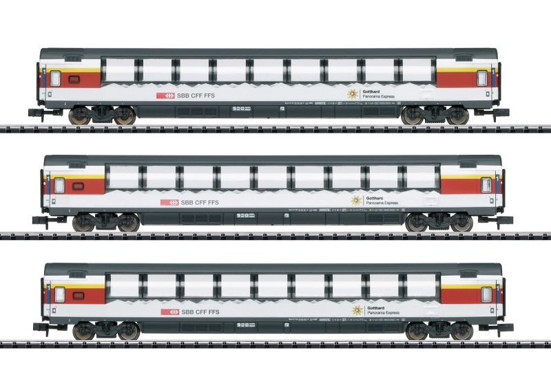 Personenwagen-Set Gotthard-Panorama-Express, Ep.VI, Spur N