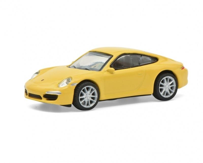 Porsche 911 Carrera S, gelb, 1:87