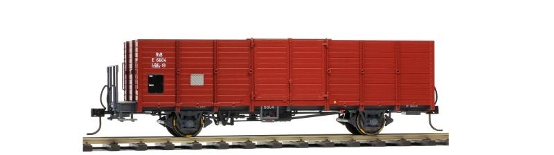 RhB E 6604 Holzwand-Hochbordwagen dunkelbraun, Spur 0m