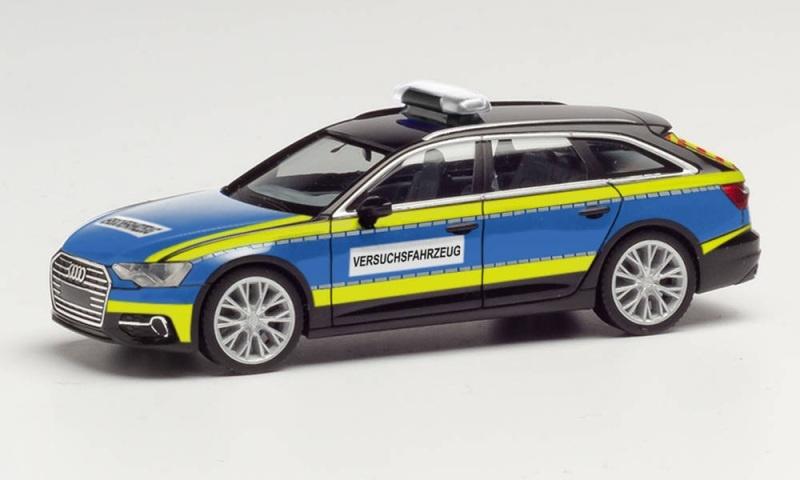 Audi A6 Avant Polizei Versuchsfahrzeug, 1:87 / Spur H0
