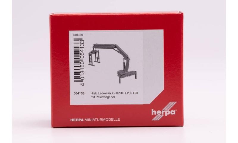 Hiab Ladekran X-HIPRO 232 E-3 mit Palettengabel, 1:87, H0
