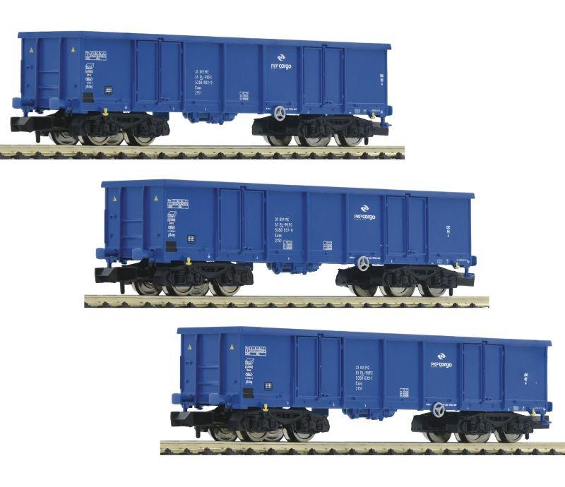 3-tlg. Set: Offene Güterwagen der PKP Cargo, DC, Spur N
