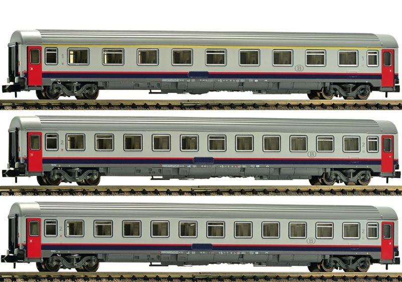 Eurofima-Wagenset der SNCB, 3-tlg., Epoche V, Spur N