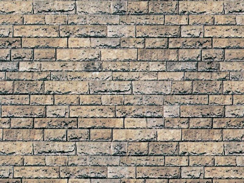 Mauerplatte Basalt aus Karton, 25 x 12,5 cm, Spur H0