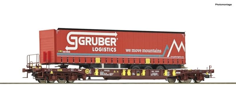 Taschenwagen T3 + Gruber Auflieger, DC, Spur H0