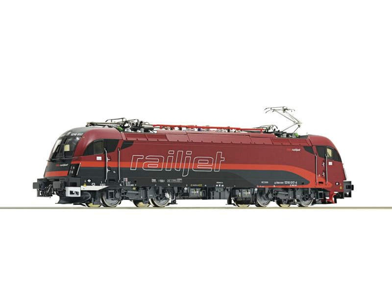 Elektrolokomotive 1216 017-4 Railjet der ÖBB, DC, Spur H0