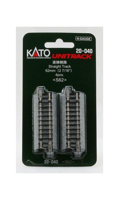 4 Stück Kato 7078010 Gleis gerade 62 mm Spur N