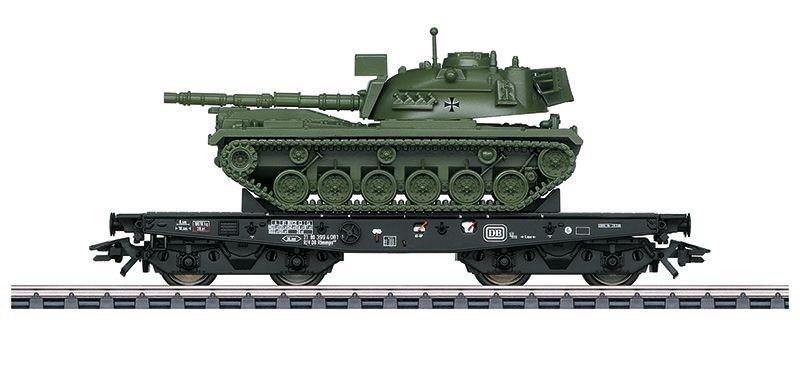 Schwerlastwagen Rlmmp 650 der DB m. M48 Panzer, Ep.IV, H0