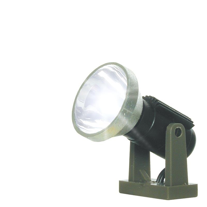 Flutlichtstrahler nieder, LED weiß, Spur H0