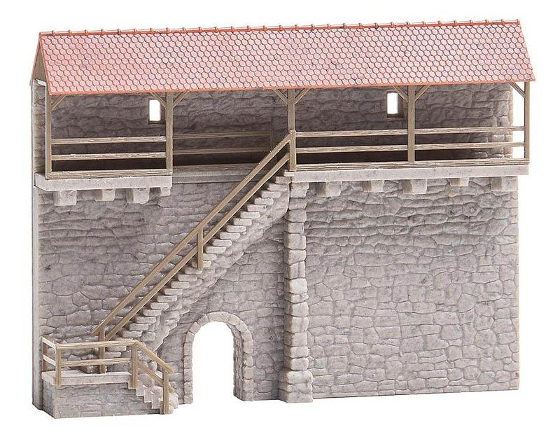 Altstadtmauer mit Treppe Bausatz N