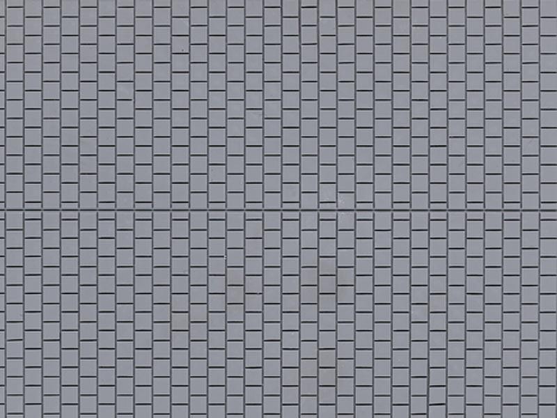 Dekorplatte Fußsteig grau lose, Kunststoff, Spur H0 / TT