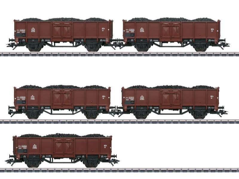 Set mit 5 Güterwagen der Gattung P DSB H0