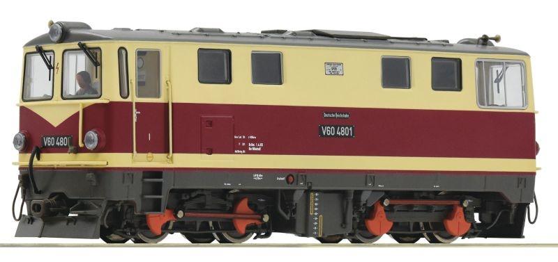 Diesellokomotive V 60 K der DR, Sound, DC, Spur H0e