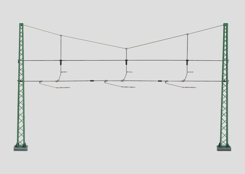 Quertragwerk für 3 Gleise H0